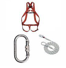 Ablass Set Auffangsystem Auffanggurt Fallschutz Absturzsicherung Seil 15m Haken