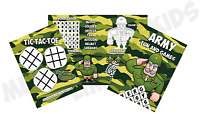 Pack of 12 - Army Fun and Games Activity Sheets - Party Bag Books Fillers