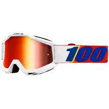 100% Percent Accuri Goggle Minima Red Mirror Lens MX Motocross ONE-50210-388-02