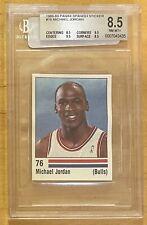 Michael Jordan 1988-89 Panini Spanish Sticker #76 BGS 8.5 Very Rare