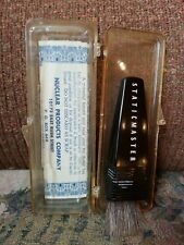 Vintage 1963 Staticmaster Lens film Brush By Nuclear Product Company In Case