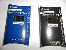 2 PACKS X PILOT HI-TECHPOINT V5/V7 LIQUID INK ROLLERBALL REFILL  BLACK OR  BLUE