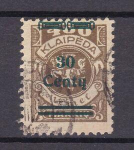Memel - 1923 - Michel Nr. 228 - Gestempelt
