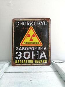 Vintage Look Radioactive Sign Chernobyl Zone Safety Warning Sign Danger Sign #3.
