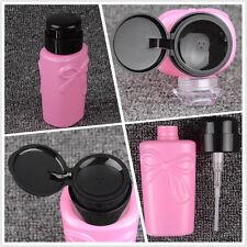 230ml Empty Pump Dispenser Cleanser Nail Art Bottle Bownot Style Manicure Tool