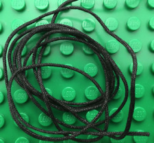 Lego Lot of 25 New Black String Cords Thin 50cm Line Pieces