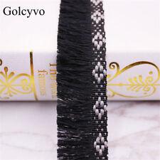 10yds Single Edge Tassel Ribbon Lace Jacquard Weave Fringe Trim Upholstery