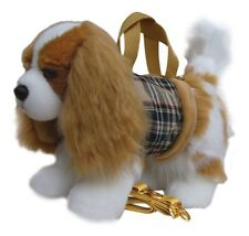 "Faithful Friends Cavalier Blenheim Soft Toy Dog Handbag/Shoulder Bag 12"""