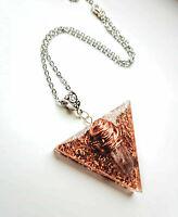 necklet Orgone Orgonite pendant triangle Herkimer diamond, chakra, yoga, Reiki,