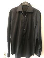 HUGO BOSS - Black long sleeved shirt - Size Medium Mens. Slim Fit.