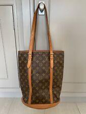 **LOUIS VUITTON** GENUINE BUCKET HANDBAG CLASSIC MONOGRAM Neverfull Shoulder Bag