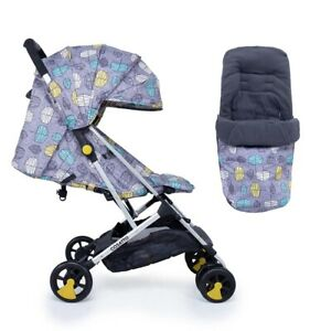 New Cosatto woosh stroller Teal dawn chorus with footmuff & raincover 0m+- 25kg