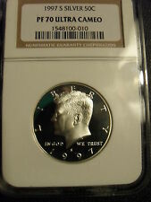 1997-S SILVER 50c NGC PR70 ULTRA CAMEO (UCAM) ** PERFECT GEM PROOF Kennedy *