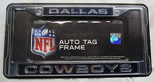 NFL Dallas Cowboys Laser Cut Chrome License Plate Frame