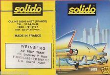 MINI CATALOGUE SOLIDO 1989 PRESTIGE EPOCA D'OR HI FI MILITAIRE POMPIERE