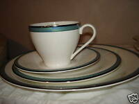 Mikasa CONNECTIONS TEAL BLUE Cup & Saucer Set CAZ06 New
