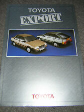 ORIGINAL TOYOTA  EXPORT RANGE SALES BROCHURE 1984