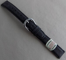 New Timex Expedition Black Water Resistant Leather 16mm Regular Watch Band Strap