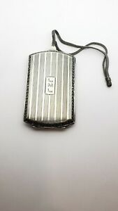 Antique WEBSTER CO Sterling Silver Wallet Ladies Compact Case Coin Holder