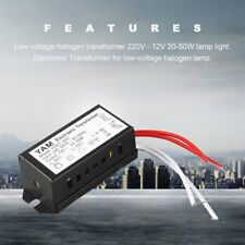 220V to 12V 20-50W Low Voltage Halogen LED Lamp Light Electronic Transformer UK