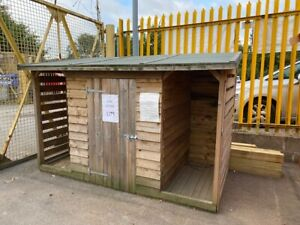 8' x 4' Tanalised Log Store - Log Storage Shed - EX DISPLAY MODEL