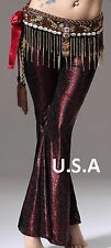 Harem Belly Dance Pants Bollywood Genie Baggy Gypsy Tribal Yoga   USA Store