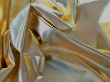 """Gold Metallic Soft Drapey Viscose Fabric Material Foil 54"""" wide by the Metre"""
