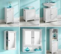 Modern Bathroom Furniture Cabinet Cupboard Shelves Storage units in White
