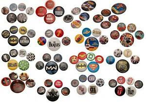 Character Button Badge Gift Novelty Pack Various Designs