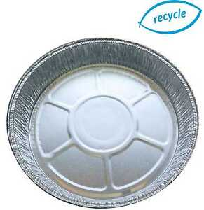 """6"""" Individual Round Foil Flan Dishes Quiche Pie Aluminium Trays For Baking"""