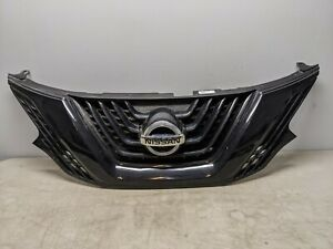 2017 2018 NISSAN MURANO ALL BLACK GRILLE WITH CAMERA & EMBLEM OEM 13473