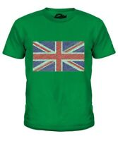 Bandera de Gran Bretaña Garabato Infantil Camiseta Top Regalo Dibujado a Mano