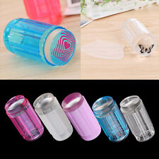 DIY Jelly Nail Art Stamping Clear Soft Silicone Stamper Scraper Plate Set IN