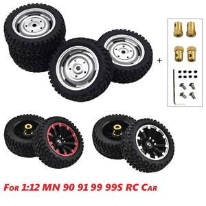 Wheel Tires for MN 1:12 RC Car MN90K MN91 MN91K MN45 MN99 Upgrade Accessories