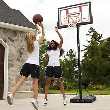 Basketball Hoop Goal System 48 in Shatterproof Portable Height Adjustable