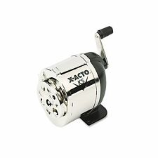 X-ACTO - Manual Pencil Sharpener, Table- or Wall-Mount - Black/Chrome - New