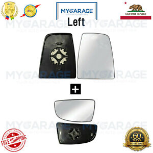 Mirror Glass Heated Upper Lower for 2014 2018 Ford Transit 150 250 Left Side