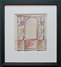 ART Nouveau Acquerello di comò da artista IMPERIALE RUSSO VIKTOR vasnecov