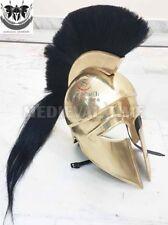 Medieval Greek Corinthian Helmet W/LONG PLUME Athenian Spartan Costume GIFT