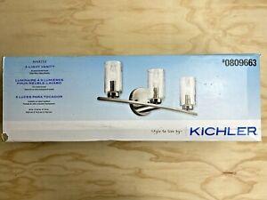 Kichler Marita 3 Light Contemporary Transitional Vanity Light Bar-Brushed Nickel