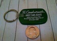 GM Goodwrench Andy Sims Buick Broadview Heights Ohio Advertising Keychain Fob