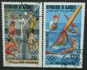DJIBOUTI 1983 Olympic Games: Volleyball Wind-surfing Set of 2 USED/CTO SG873/874