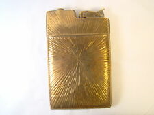 Antique Evans Art Deco Starburst Brass Cigarette Case Lighter Sparking Rare