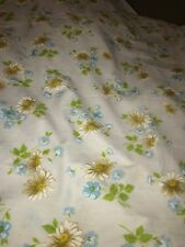 Vintage Morgan Jones Full Flat Floral Daisy Bed Sheet Bedding Linens