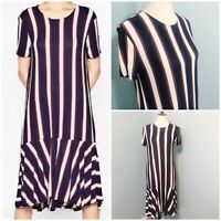 ZARA NEW RIBBED DRESS WITH POLO COLLAR KNIT LONG BRICK S,M,L REF 5755//007