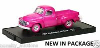 ^L38  M2 11228 24 MACHINES AUTO DRIVERS 1950 STUDEBAKER 2R TRUCK 1:64 CHASE