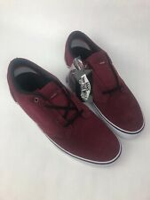 VANS SHOES TYPE II 2 SUEDE Burgandy WHITE Mens Sz 13 NIB SKATE SK8 VN-OOKUZ28