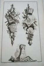 EAU FORTE JEAN CHARLES DELAFOSSE-VOYSARD ERREUR HYPOCRISIE-TROPHEES 1772