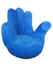 Brand New Adult size Swivel Hand Chair, Finger sofa 1 Seat Couch lounge * Blue