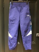 Diadora Deadstock Vintage Nylon Zip Bottom Tracksuit Trousers (Coq Fila Nike)